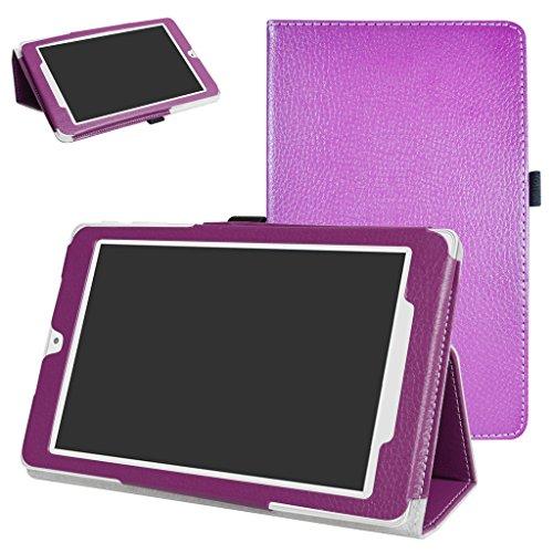 MAMA MOUTH Alcatel OneTouch Pixi 3 Funda, Slim PU Cuero con Soporte Funda Caso Case para 8' Alcatel OneTouch Pixi 3 8 3G Tablet PC,Púrpura