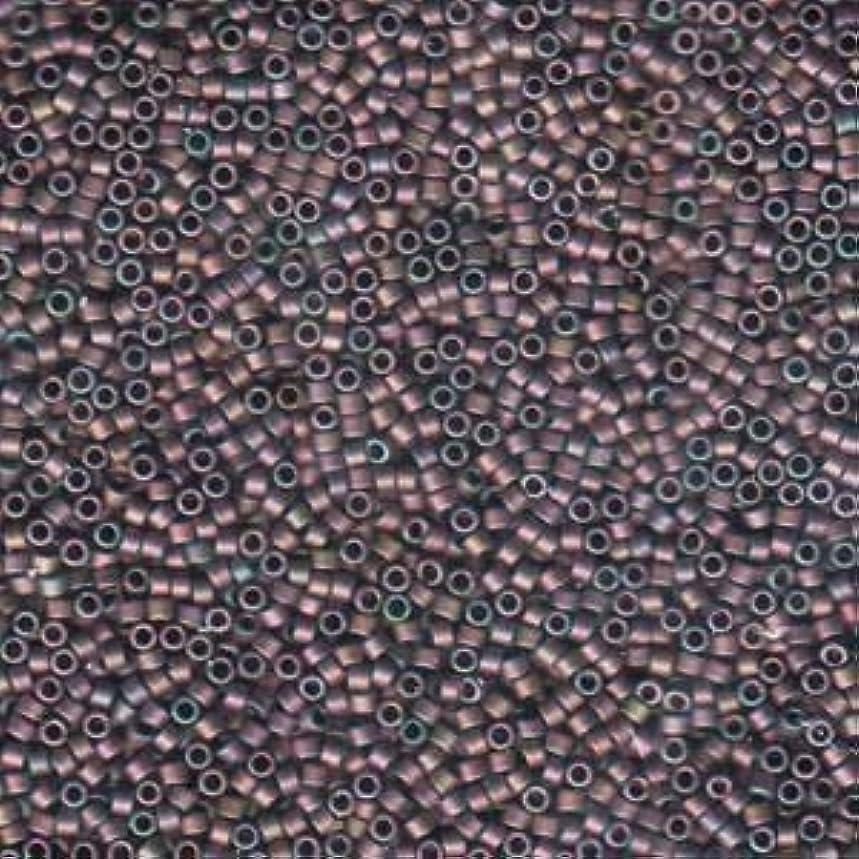 Miyuki Delica Seed Beads 11/0 Matte Metallic Rose Green Gold Iris 7.2 Gram DB1056