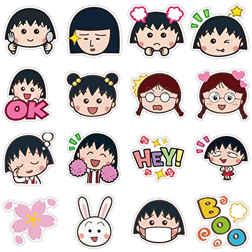 Cherry Maruko Riman Expression Value Impermeable Viajes Li, Refrigerador Portátil Graffiti Sticker 80PCS