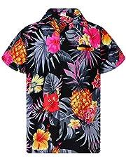 King Kameha Funky Hawaiian Shirt Men Shortsleeve Frontpocket