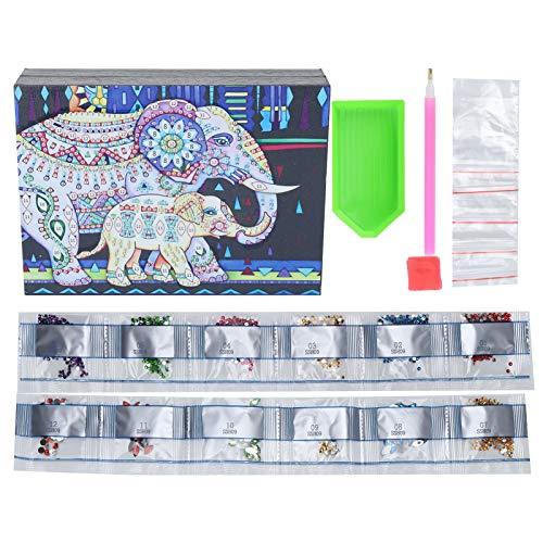Fybida 5D Diamond Painting Schmuckschatulle Stickgarnituren Home Decor Aufbewahrungsbehälter für Armbänder für Halsketten Ohrringe Ladenringe