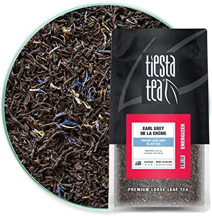 Tiesta Tea Earl Grey de la Cr me Loose Leaf Creamy Earl Grey Black Tea High Caffeine Hot Iced product image