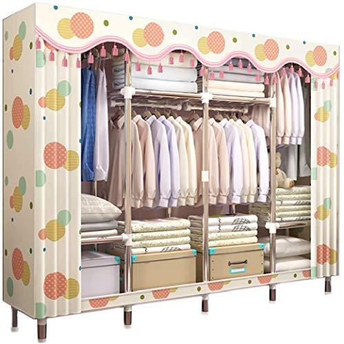 Kleiderschränke Tragbare Schrank-Speicher-Organisator, Steel Pipe Stoff Closet Garment Organizer Armoire Wardrobe einfach zu montieren for zusätzliche Speicherplatz Liuyu.