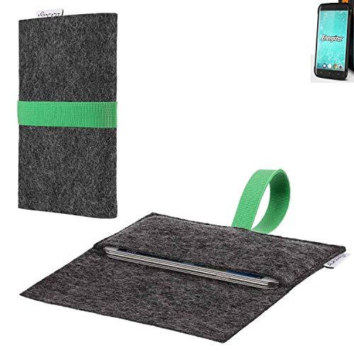 flat.design vegane Handy Hülle Aveiro für Energizer H550S passgenaue Filz Tasche Case Sleeve Made in Germany