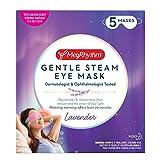 MegRhythm Gentle Steam Eye Mask, Lavender, 5 Count, Soothing Steam Eye Mask, Rejuvenates Eyes, Reduces Tension, Dermatologist and Ophthalmologist Tested
