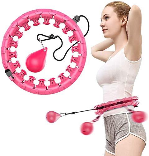 Smart Hula Hoops, Hullahub Reifen zum Abnehmen, Magic Hula Rings Reifen Fitness zum Erwachsene Kinder, Einstellbar Hoola Hoop mit Massagenoppen und 24 Abnehmbare Teile ideal für Abnehmen Training