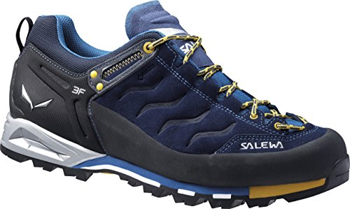 Salewa Herren MS Mountain Trainer Gore-TEX Trekking-& Wanderstiefel, Navy/Nugget Gold, 39 EU