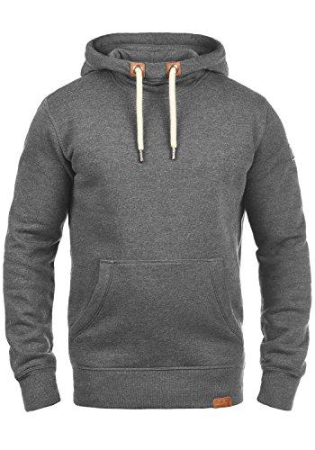 !Solid TripTall Herren Kapuzenpullover Hoodie Pullover Mit Kapuze Und Fleece-Innenseite Aus 100% Baumwolle, Größe:L, Farbe:Grey Melange (8236)