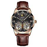 Reloj para Hombre AILANG, Doble Volante Hueco Automático 30 M Impermeable Reloj Mecánico Suizo Reloj De Moda