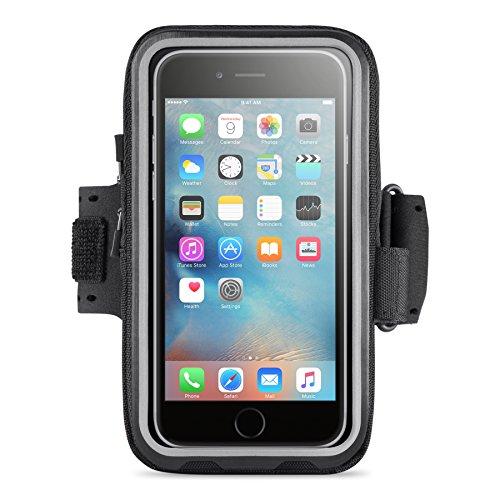 Belkin Storage Plus Armband (geeignet für Smartphones bis 5,5 Zoll, iPhone 6 Plus, iPhone 6s Plus) schwarz