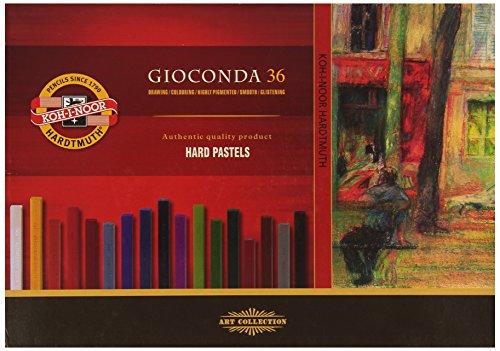 Koh-I-Noor GIOCONDA 8115 Crayons pastels durs pour l'Artiste (Lot de 36)