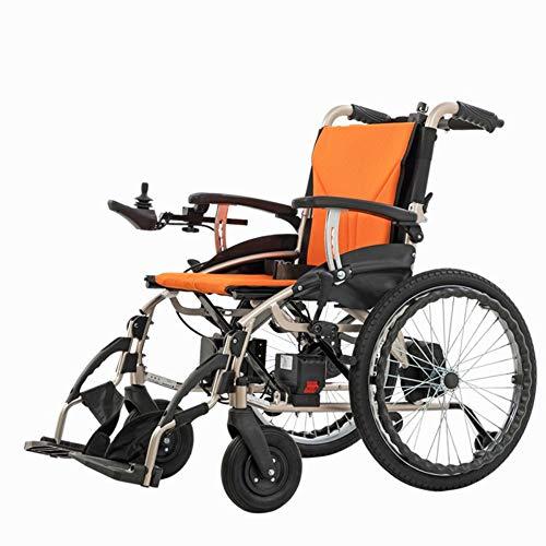 Mobiler Rollstuhl, intelligenter elektrischer motorisierter Rollstuhl, tragbarer, zusammenklappbarer, langlebiger Elektrorollstuhl, älteres mobiles Auto,bürstenloser Motor,doppelte Steuerung,gelb