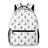 EUlemon Travel Laptop Backpack,Cute Silhouette Owl Characters With Funny Faces Tree Branches Nature,Large Business Water Resistant Anti Theft Computer Daypack Slim Durable College School Bookbag