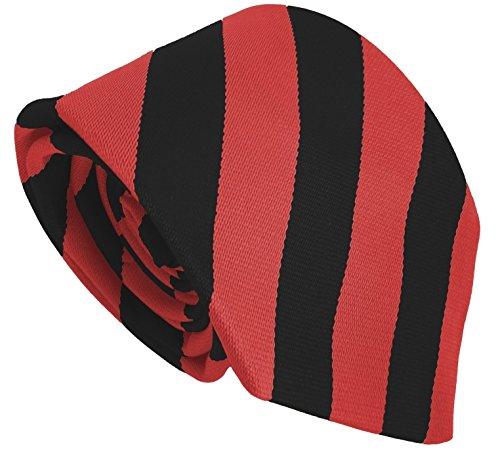 Cravates d'école (Secondaire, Lycée, Collège) Différentes Couleurs (Noir & Rouge)