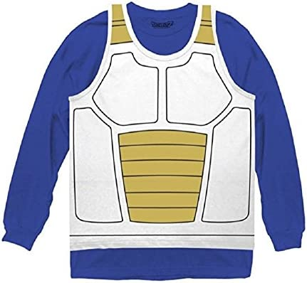 Dragon Ball Z Vegeta Saiyan Armor Costume Cosplay Shirt Small Blue product image