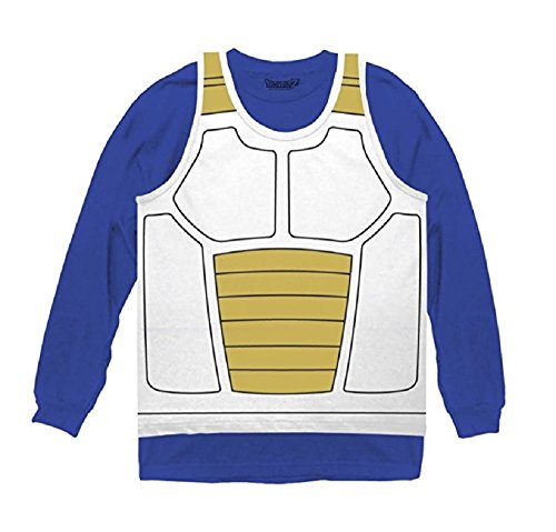 Ripple Junction Herren Vegeta Saiyajin Rüstung Kostüm Cosplay Hemd (Klein)