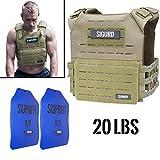 Suprfit Sigurd 3D Gewichtsweste Green - Basisgewicht: 1 kg, Zusatzgewicht: 2 x 4 kg (blau),...