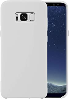 Liquid Silicone Phone Case for Samsung Galaxy S8 /Full Body Protection/Shockproof/Gel Rubber/Cover Case Drop Protection White