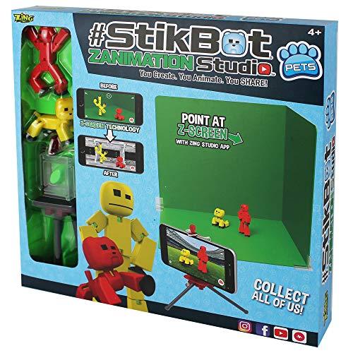 Stikbot Zanimation Studio Pro Two Figure Set - Stop Motion Animation App Toy