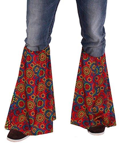 Karneval-Klamotten Hippie Kostüm Flower-Power Schlager Karneval Stulpen Beinstulpen Damen Herren Einheitsgröße