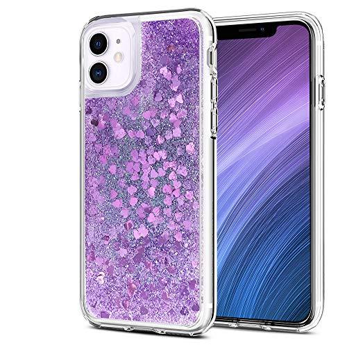 wsky - Carcasa para iPhone 11, color morado parpadeante, elegante y hermosa, funda protectora especial para mujeres, transparente y suave iPhone 11 Case