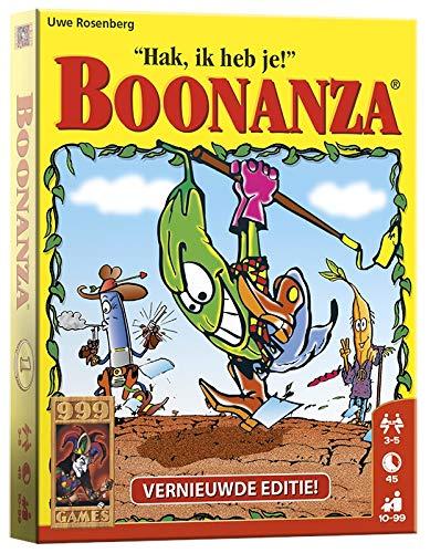 999 Games - Boonanza Kaartspel - Basisspel vanaf 10 jaar - Genomineerd voor de Nederlandse spellenprijs 2003, - Uwe Rosenberg - voor 3 tot 5 spelers - 999-BOO01