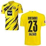 PUMA Borussia Dortmund BVB Heimtrikot 2020 2021 Home Trikot Sponsor BL Logo Kinder Thorgan Hazard 23 Gr 164