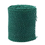 LIOOBO cinta de arpillera de encaje artesanía cinta de yute envoltura de regalos rústicos para boda vintage decoración de navidad arcos florales adornos corona artesanía verde oscuro