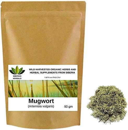 Mugwort (Artemisia vulgaris) Wild Harvested Organic ПОЛЫНЬ ОБЫКНОВЕННАЯ from Altai Mountains, Siberia, Russia. (50 gm)