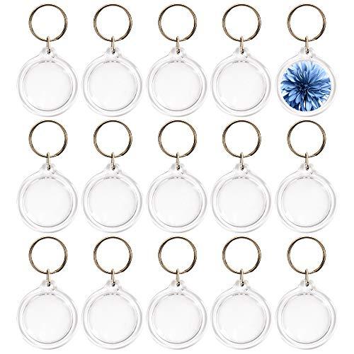 50 piezas Llaveros con marco Acrílico Transparente Cuadros