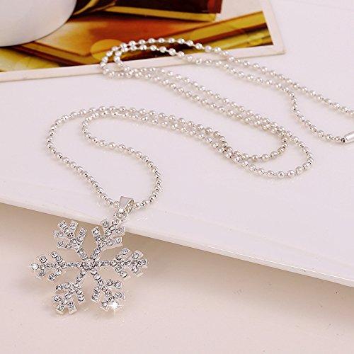 ACE Frozen collier pendentif en cristal de flocon de neige au cours de forage-Blanc