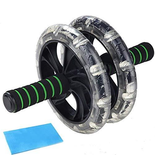 ALXLX Ab Roller Wheel - Ab Trainingsgeräte Fitnessmatte & Rutschfeste, Extra Dicke Kniepolster-Matte