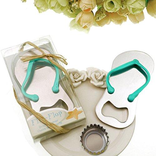 "24 pack Flip-flop Bottle Opener, Marrywindix Special""pop the Top"" Flip-flop Bottle Opener for Wedding Favors-set of 24"