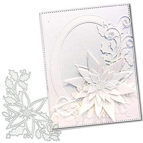 Stanzschablonen für Kartengestaltung, Blumen-Design, Metall, Scrapbooking, Papierbastelarbeiten, Kartenherstellung, Albumdekoration, Silber