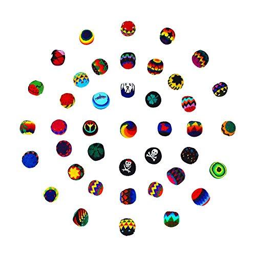 MB-Müller FaJonglierbälle l Kick Ball Wutball Ø 55mm l 3er / 6er / 12er / 24er Sparpacks aus l aus Guatemala (24 Stück)