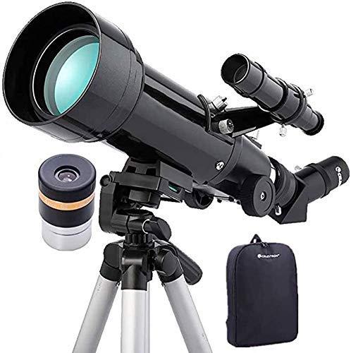 Telescopio refractor, Telescopio principiantes for adultos de los niños adaptador de teléfono astronomía Withadjustable trípode trípode ajustable telescopio refractor -Para los principiantes y los niñ
