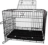Big &Adult Dog Heavy Duty Dog Crate Strong Metal Large Dog Cage Black Colour 42 INCH 254