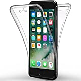 Coque iPhone 7 Plus, Leathlux Silicone Gel Case Avant et Arrière Intégral Full Protection Cover Transparent TPU Housse Anti-rayures pour Apple iPhone 7 Plus 5.5'