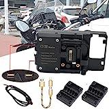 R&P Staffa di Navigazione USB per Cellulare Supporto per USB per Moto per BMW R1200GS F800GS ADV F700GS R1250GS CRF 1000L F850GS F750GS