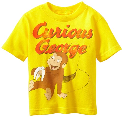 Curious George Little Boys' Toddler Short Sleeve T-Shirt, Yellow, 2T