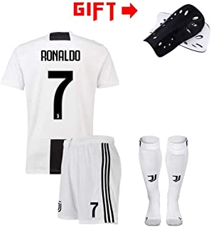 Hhwei Football Suitwrinkle Resistance Breathable Training Wear Sportswear Adult and Children Football Boy T-Shirt Gift Juventus F.C #7 Cristiano Ronaldo,XS