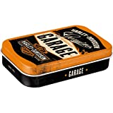 Nostalgic-Art 82105 Harley-Davidson - Garage| Pillen-Dose XL | Bonbon-Box | Metall | mit Pfefferminz-Dragees