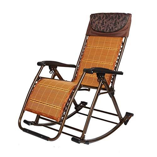 Rocking Chair Garden Folding Recliner Outdoor Adjustable Sun Lounger Rocker Zero-Gravity Seat (Color : E)