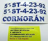 Impresión en Vinilo del Folio del Barco Matrícula de Barcos Nombre del Barco Impresión en Vinilo de Exterior Folio del Barco ó Nombre del Barco Personalizado 60x10cm Cada uno de Ellos