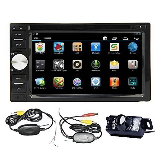 Android 4.2 Double Din 6.2'- inch Capacitive Touch Screen Car Stereo DVD Player Radio In Dash GPS Navi Navigation + Free Backup Reversing Parking Camera