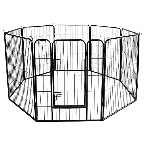 EastSun Wholesale Best Large Indoor Metal Puppy Dog Run Fence/Iron Pet Dog Playpen 8 Panels