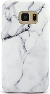 GOLINK Galaxy S7 Case IMD Slim-Fit Anti-Scratch Shock Proof Anti-Finger Print TPU Case for Galaxy S7 (White Marble)