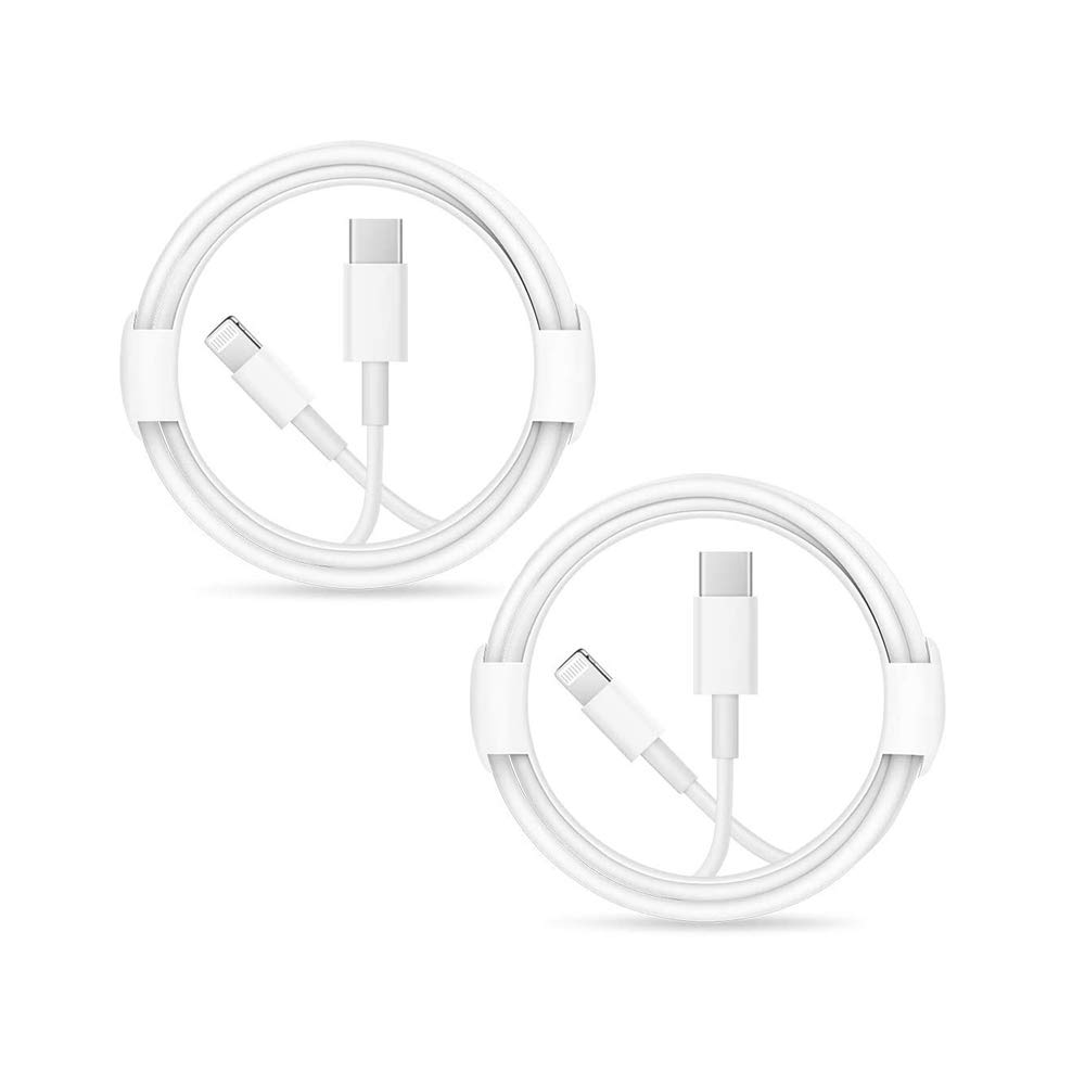 2 Pack Apple iPhone Fast Charger Cable ?Apple MFi Certified? Apple USB Type C to Lightning Cable for iPhone 12/12Pro/Max/11/11Pro/XS/Max/XR/X/8/8Plus/7/6/5/SE (White 1M/3.3FT) Original Certified