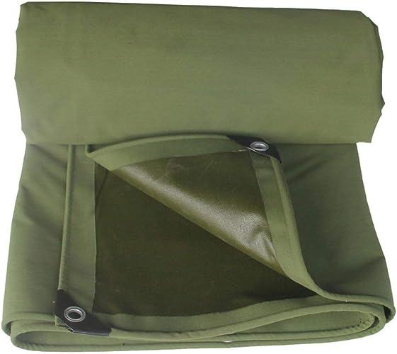 ATR Tente extérieure bache Tente extérieure bache épaisse ombrage Pare-Soleil Camion Hangar Tissu Anti-Corrosion Anti-oxydation résistant à l'usure, Vert (Couleur  Vert, Taille  5  8m)
