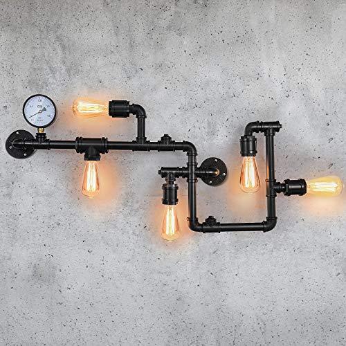 lampadario tubi EDISLIVE Industriel Appliques Murales 5 Lampe Lèche-murs Métal Conduite d'eau Luminaires Eclairage